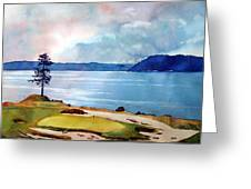 Chambers Bay 15th Hole Greeting Card by Scott Mulholland
