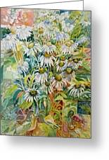 Chamomile Greeting Card by Therese AbouNader