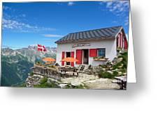Chamonix Refuge Greeting Card