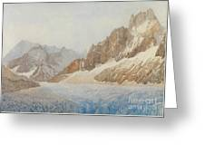 Chamonix Greeting Card by SIL Severn