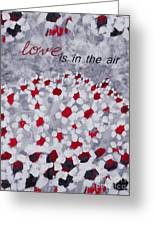 Champs De Marguerites - Love Is In The Air - Red -a23a3 Greeting Card