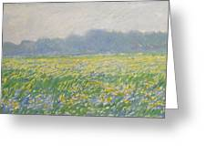 Champ D'iris A Giverny Greeting Card