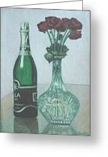 Champagne And Roses Greeting Card