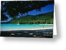 Champagne Beach Greeting Card