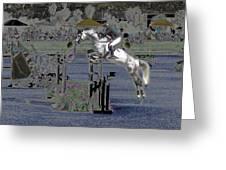 Champion Horse Jumper Greeting Card