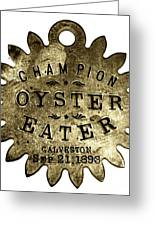 Champion Oyster Eater - To License For Professional Use Visit Granger.com Greeting Card