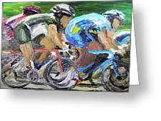Champions Peddling To Victory Greeting Card