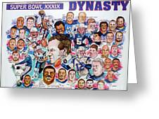 Championship Patriots Newspaper Poster Greeting Card