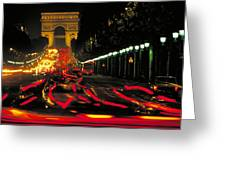 Champs Elysee In Paris Greeting Card