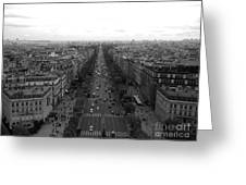 Champs Elysees In Paris Greeting Card