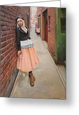 Chance Meeting In Fan Tan Alley Greeting Card