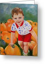 Chance With The Pumpkins Greeting Card