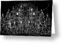 Chandelier 2360bw Greeting Card