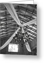 Chandelier In The Rafters Greeting Card