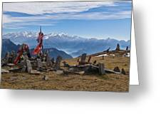 Chandrakani Pass Shrine 2 Greeting Card