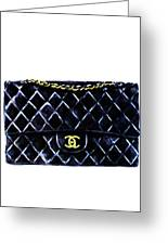 Chanel Bag Poster Greeting Card