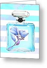 Chanel Blue Decor Greeting Card