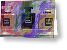 Chanel Coco Abstract Greeting Card