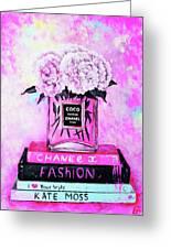 Chanel Perfume With Peony Greeting Card