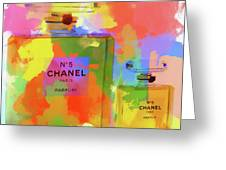 Chanel Five Watercolor Greeting Card