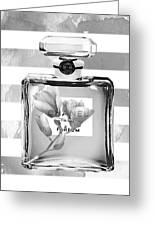 Chanel Flower Grey Greeting Card