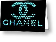 Chanel Light Blue Points Greeting Card