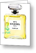 Chanel N 5 Perfume Poster Greeting Card