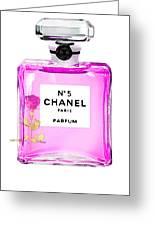 Chanel N 5 Perfume Print Greeting Card