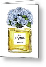 Chanel N.5 Yellow Bottle Greeting Card