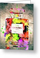 Chanel No. 5 Colored  Greeting Card