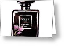Chanel Noir Magnolia Pink Greeting Card