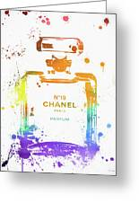 Chanel Number Nineteen Greeting Card