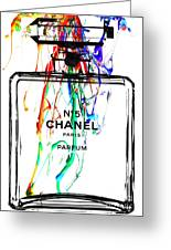 Chanel No. 5 White Greeting Card