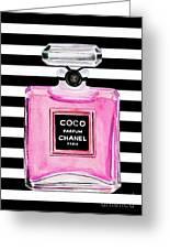 Chanel Pink Perfume 1 Greeting Card