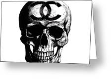 Chanel Skull Black Greeting Card