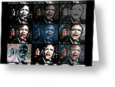 Change  - Barack Obama Greeting Card by Valerie Wolf