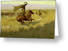 Change Of Ownership -the Stampede Horse Thieves Greeting Card