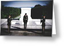 Changing Of The Guard At The Tomb Of The Unknowns At Arlington Greeting Card
