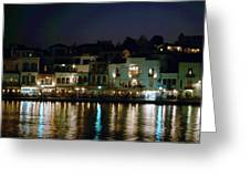 Chania By Night  Greeting Card