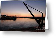 Chania Harbour Greeting Card