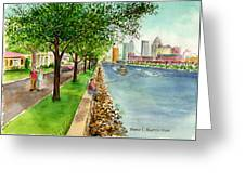 Channel Drive Tampa Florida Greeting Card