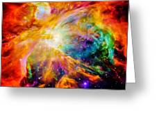 Chaos In Orion Greeting Card