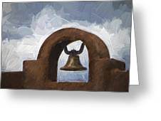 Chapel Bell Chimayo Painterly Effect Greeting Card