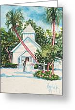 Chapel By The Sea Captiva Greeting Card