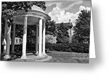 Chapel Hill Old Well In Black And White Greeting Card