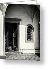 Chapel In Riomaggiore Cinque Terre Italy Bw Greeting Card