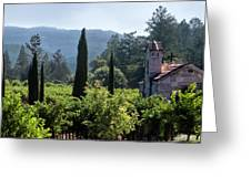 Chapel In The Napa Valley Vineyards Greeting Card