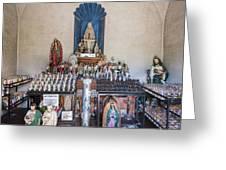 Chapel Mortuary Interior - San Xavier Del Bac Mission - Tucson Arizona Greeting Card