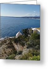 Chapel Over The Sea Greeting Card