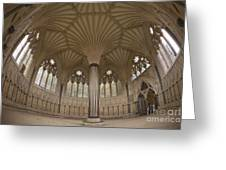 Chapter House, Wells Cathedral, Somerset Uk Greeting Card